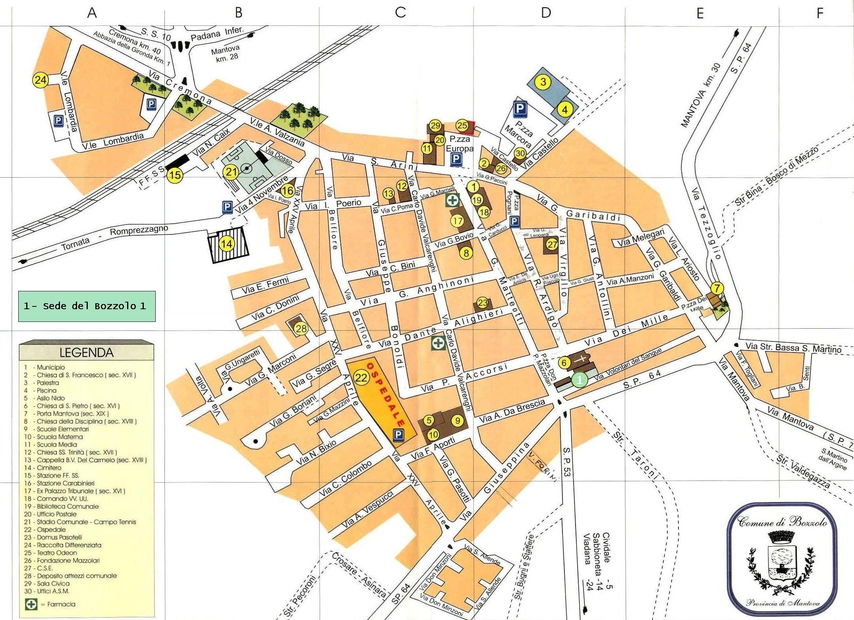 Cartina Geografica Della Provincia Di Mantova.Bozzolo1 Tk